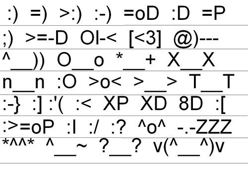 Type emoticons